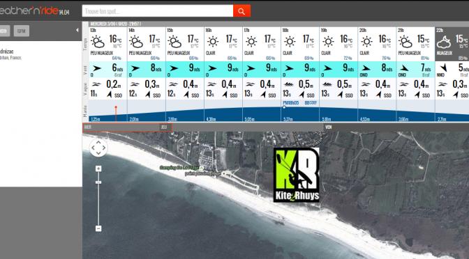 Weather'N'Ride , l'appli météo mobile et web pour les prévisions météo.