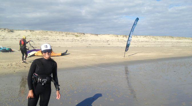 Une nouvelle monitrice à l'école kite de Rhuys